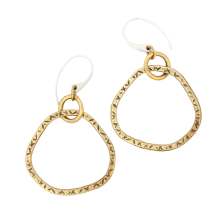 textured-brass-hoop-earrings-white-background
