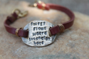 Energy Flows Leather Bracelet