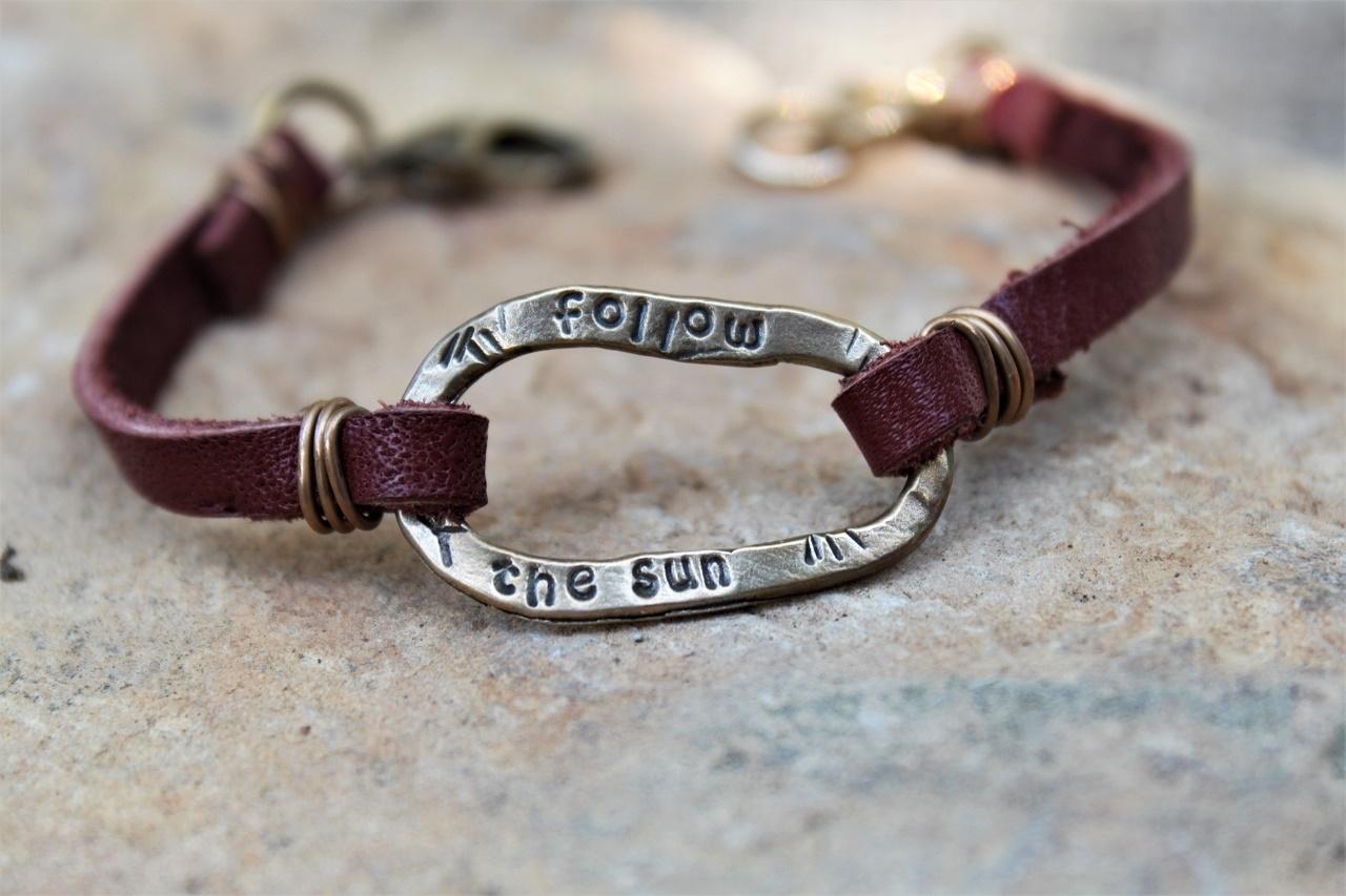 Follow the Sun Leather Bracelet