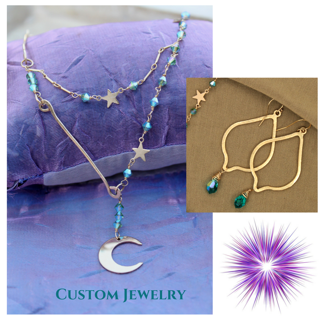Celestial Necklace & Earrings