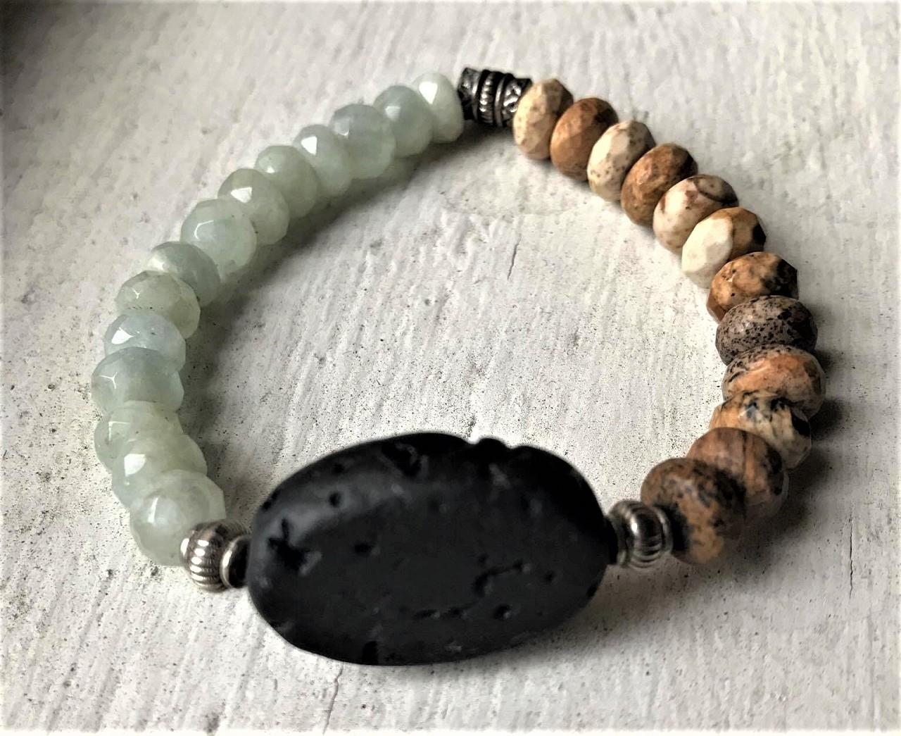 Aquamarine Aromatherapy Bracelet