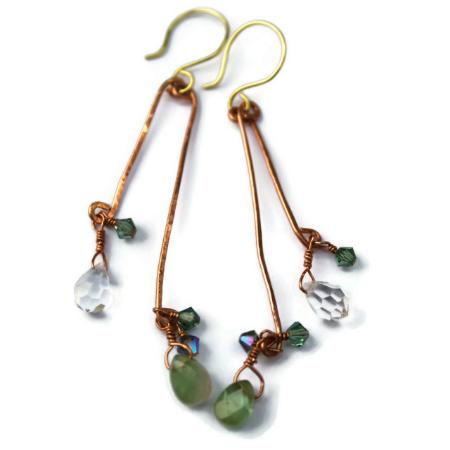 Gemstone Stick  Earrings