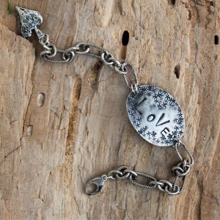 Sterling Oval Love Bracelet