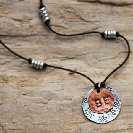 BE Necklace - Sterling & Copper