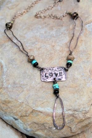 Copper Love Loop Necklace