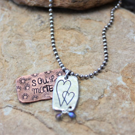 Soul Mate Necklace - Sterling & Copper