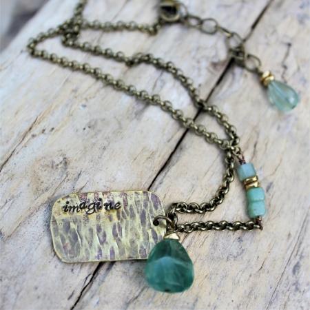Imagine Necklace- Brass & Gemstones