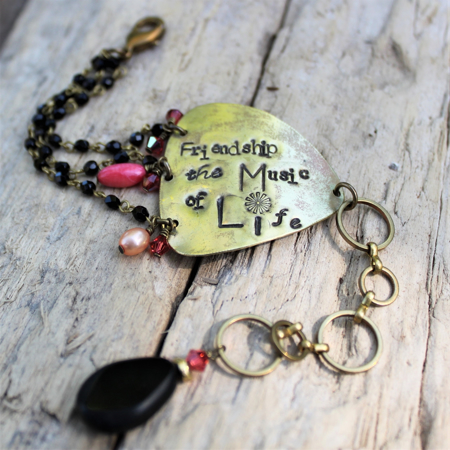 Friendship is the Music of Life Bracelet