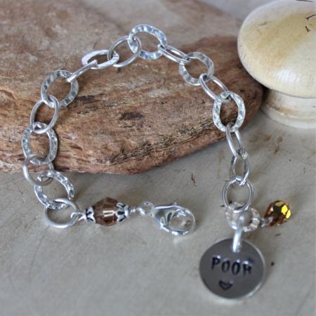 Memorial Bracelet - Sterling & Swarovski Crystal