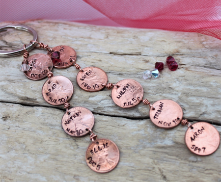 Pennies from Heaven Key Chain for Grandma