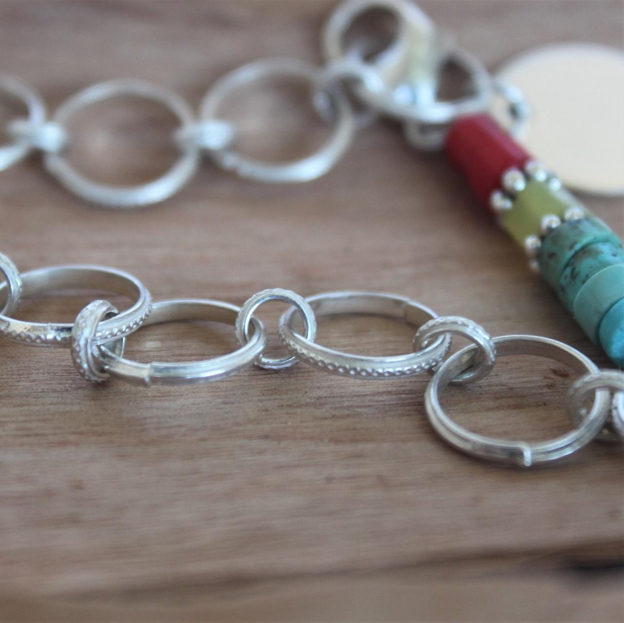 Totem Pole Charm Bracelet