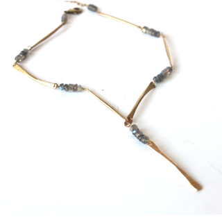 Labradorite Stick Necklace