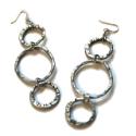 Chain Reaction Trio Hoop Earrings