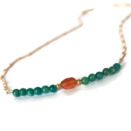 Color Me Pretty in Orange Necklace