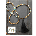 Earthy Chic Tassel Necklace Set