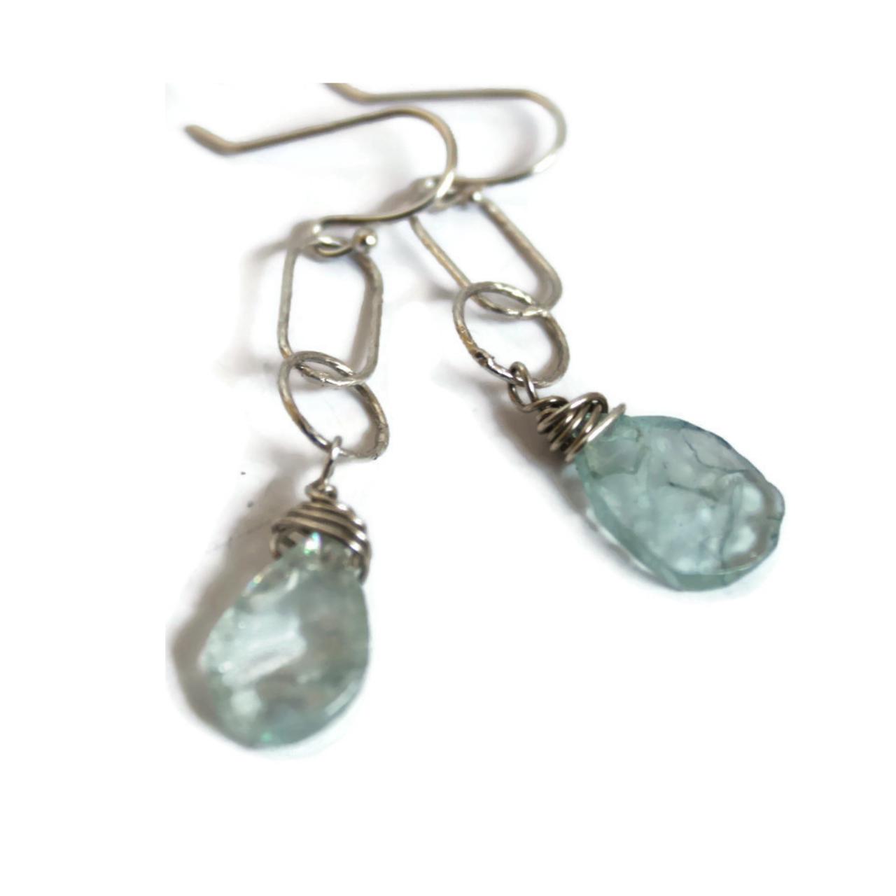 sterling-chain-aquamarine-earrings-on-white-background