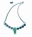gemstone-black-leather-aromatherapy -necklace-on white-background