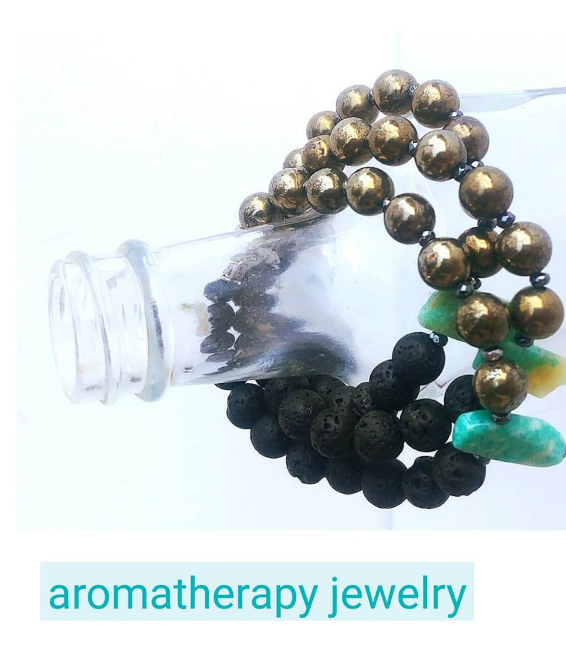 3-aromatherapy-gemstone-lava-bracelets-on-clear-glass-bottle