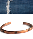 men's forged copper cuff on white