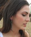 long earring on girl outside