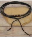 black necklace wrap on wood