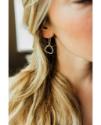 earring on ear partial face
