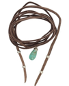 brown suede turquoise wrap necklace on girl