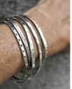sterling cuff stack on arm