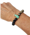 gemstone aromatherapy bracelet on wrist
