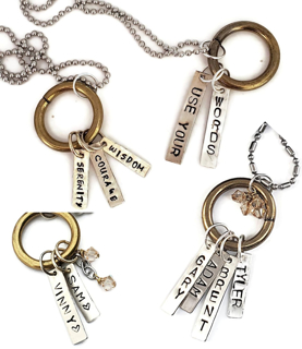 Assortment of word necklace ideas