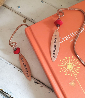 Personalized name tag copper bookmarks