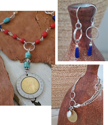 Collage of Italian Coin jewelry set