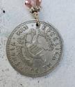 Guatemalan silver coin necklace