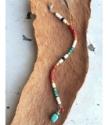 Earthy gemstone bracelet on wood